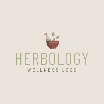 Herbology Logo Creator with a Simple Graphic 1303a-el1