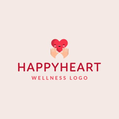Wellness Logo Creator Featuring a Happy Heart Graphic 1303d-el1