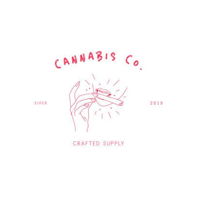 Cannabis Brand Logo Creator Featuring a Mouth Rolling a Joint 3224e