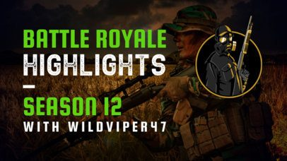 YouTube Thumbnail Creator Featuring Battle Royale Highlights 2508f