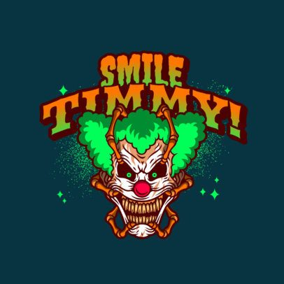Gaming Logo Creator Featuring an Evil Clown Face 3233d