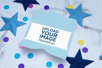 Gift Card Mockup Featuring Star-Shaped Decorations 4068-el1
