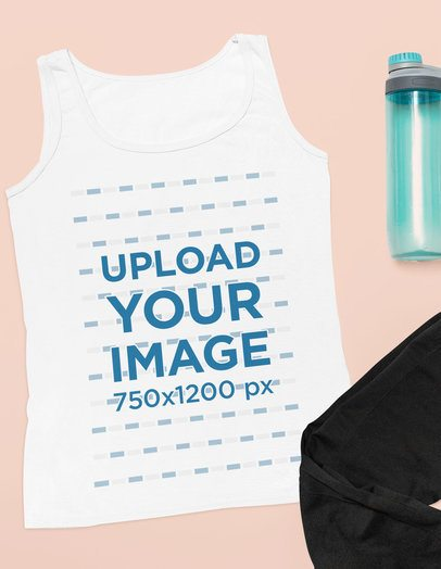 Mockup of a Workout Tank Top on a Plain Surface 33712