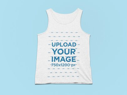 Mockup of a Heathered Tank Top for Men on a Plain Surface 25505