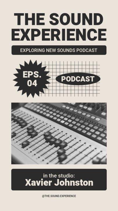 Retro Instagram Story Template for a Podcast Maker 1364a-el1