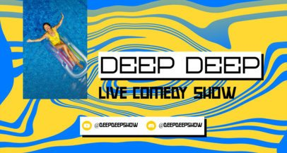Twitch Banner Maker Featuring a Groovy Background For an Online Comedy Show 2523d
