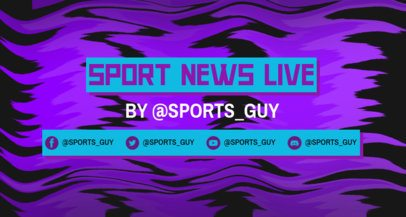 Twitch Banner Maker with a Neon Background for a Sports Livestream 2523f
