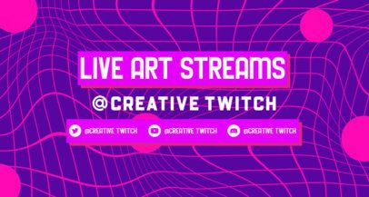 Groovy Twitch Banner Generator For an Online Livestream 2523e