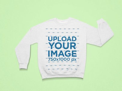 Front-View Mockup of a Flat Laid Round Neck Sweatshirt 25499