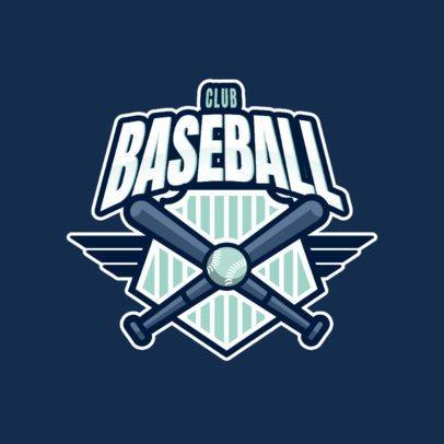 Baseball Team Logo Maker Featuring Crossed Bats 1340c-el1
