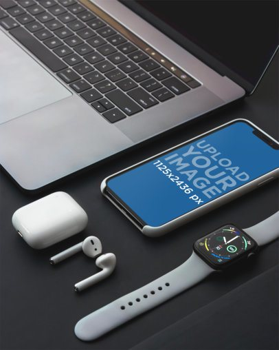 Mockup Featuring an iPhone 11 Pro Among Other Gadgets 3835-el1