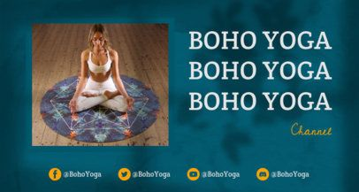 Twitch Banner Creator for a Yoga Streaming Channel 2524e