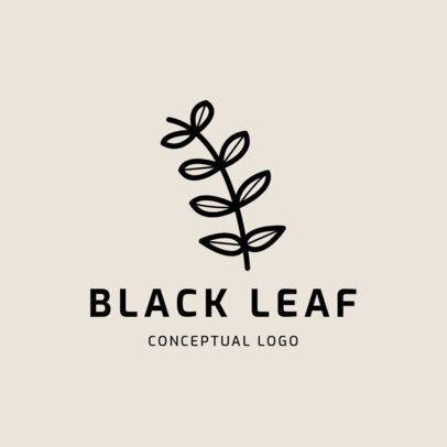 Logo Template Featuring a Minimalist Plant Icon 1393d-el1