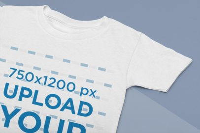 Closeup View Mockup of a Round Neck T-Shirt on Two Cardboards 33934