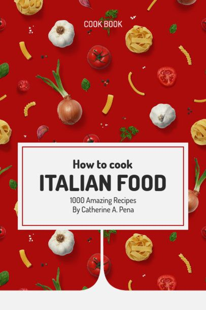 Ebook Cover Design Creator Featuring Italian Dishes Recipes 1413c-el1