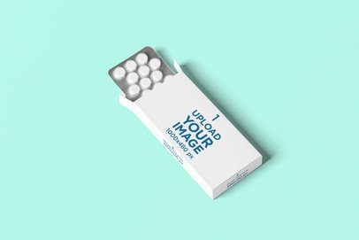 Mockup of a Pills Box Featuring a Customizable Surface 4056-el1