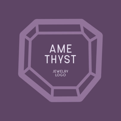 Logo Maker for a Jewelry Store with an Abstract Amethyst Graphic 1358b-el1