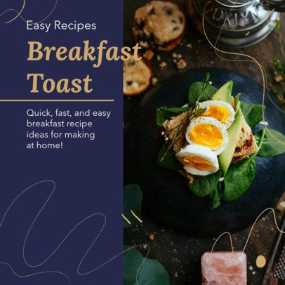 Cool Instagram Post Generator for Easy Breakfast Recipes 2526h