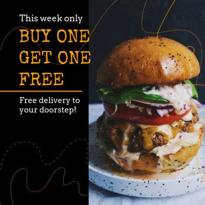 Instagram Post Maker for Food Delivery Deals 2526i