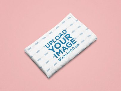 Mockup of a Folded Sublimated Blanket on a Flat Surface 25530