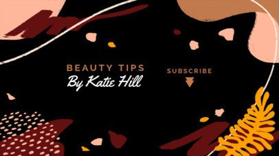 YouTube Banner Generator for a Beauty Guru Vlogger 2520h