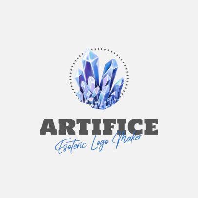 Esoteric Logo Creator with a Blue Quartz 1351b-el1