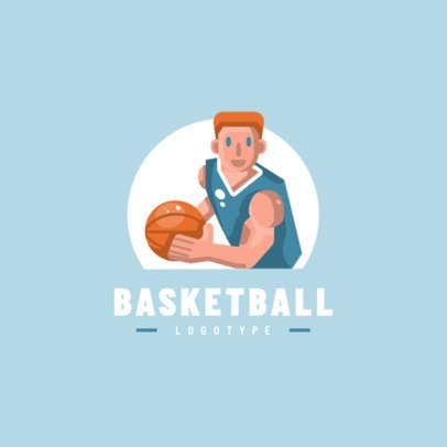 Simple Logo Creator for a Basketball Team 1455a-el1