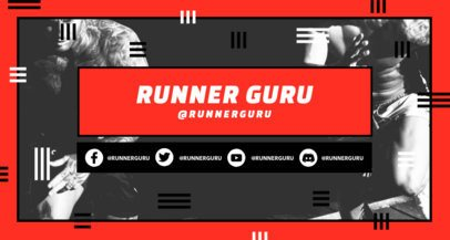 Twitch Banner Template for a Runners Club Channel 2522g