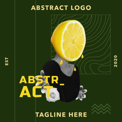 Abstract Logo Maker Featuring a Lemon-Headed Woman Collage 3256f