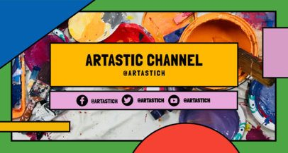 Art-Themed Twitch Banner Generator With a Colorful Geometric Frame 2522i