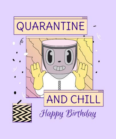 T-Shirt Design Creator for a Quarantine and Chill Celebration 2529f