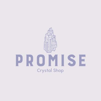 Jewelry Logo Template with Precious Stone Graphics 1353f-el1