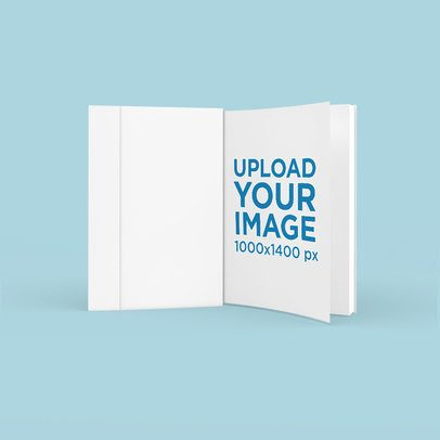 Mockup of a Customizable Book Standing on a Plain Surface 3429-el1