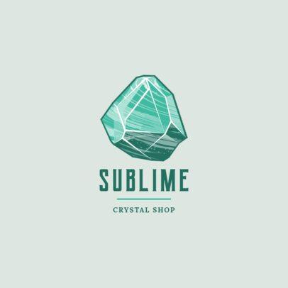 Jewelry Logo Maker Featuring a Green Precious Rock 1354b-el1