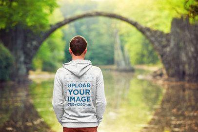 Back-View Mockup of a Man Admiring a Nature Landscape 34311-r-el2