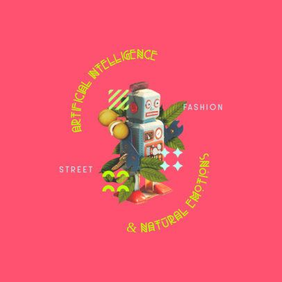 Street Fashion Logo Maker Featuring a Surreal Robot Collage 3257d