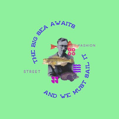 Street Fashion Logo Creator with a Surreal Collage Design 3257g