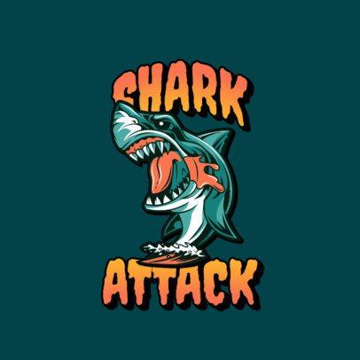 Logo Maker with a Shark Graphic Inspired by Santa Cruz 3266j