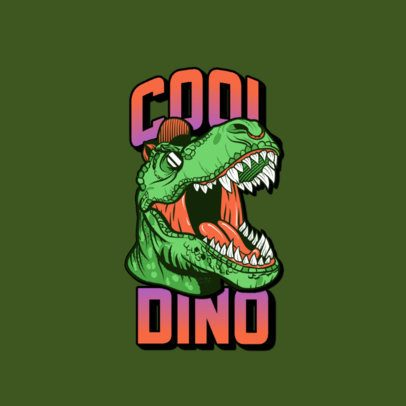 Logo Maker for Clothing Brands Featuring a Cool T-Rex 3266k