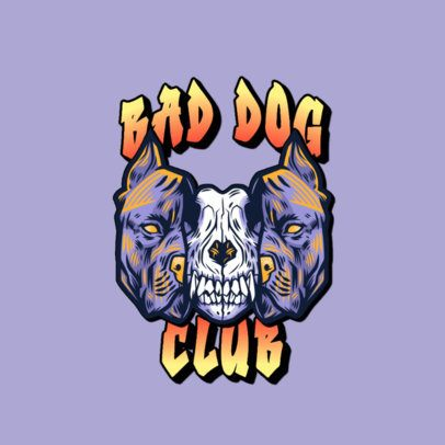 Logo Generator Featuring the Skull of a Ferocious Dog 3266t