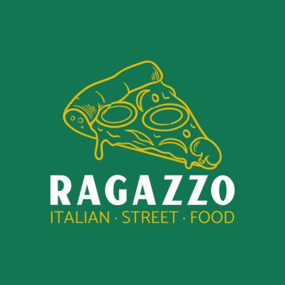 Italian Restaurant Logo Creator Featuring a Pizza Graphic 1486b-el1