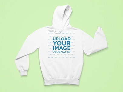Minimalist Mockup Featuring a Pullover Hoodie with Folded Sleeves 25718