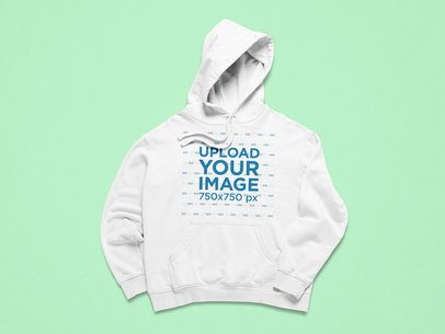 Mockup of a Pullover Hoodie Flat Laid Facing Front 25310