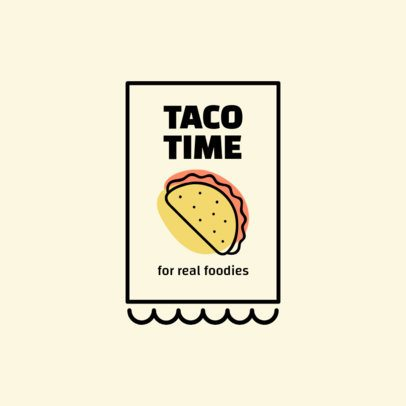 Foodie Logo Template Featuring a Taco Graphic 1489a-el1