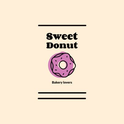 Simple Logo Maker with a Donut Graphic 1489f-el1