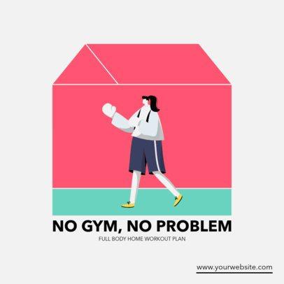 Instagram Post Creator for Indoor Workouts 1480b-el1