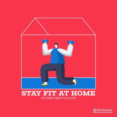 Instagram Post Maker for House Fitness Tips 1480c-el1