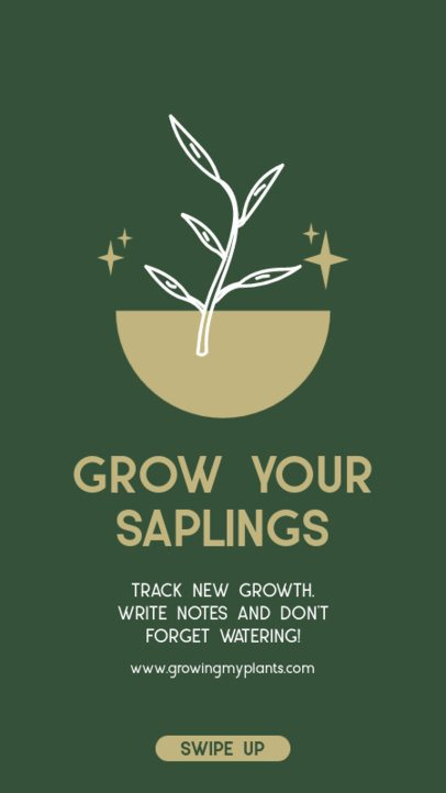 Instagram Story Creator for Saplings Growing Tips 1457a-el1