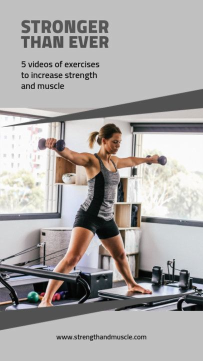 Instagram Story Template for Fitness Video Classes 1475c-el1