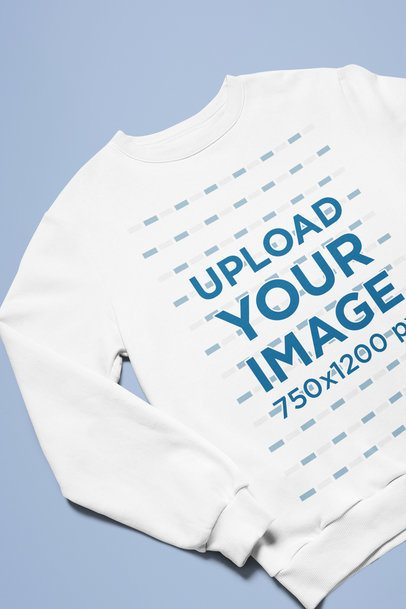 Closeup Mockup Featuring a Crewneck Sweatshirt and a Customizable Background 25624